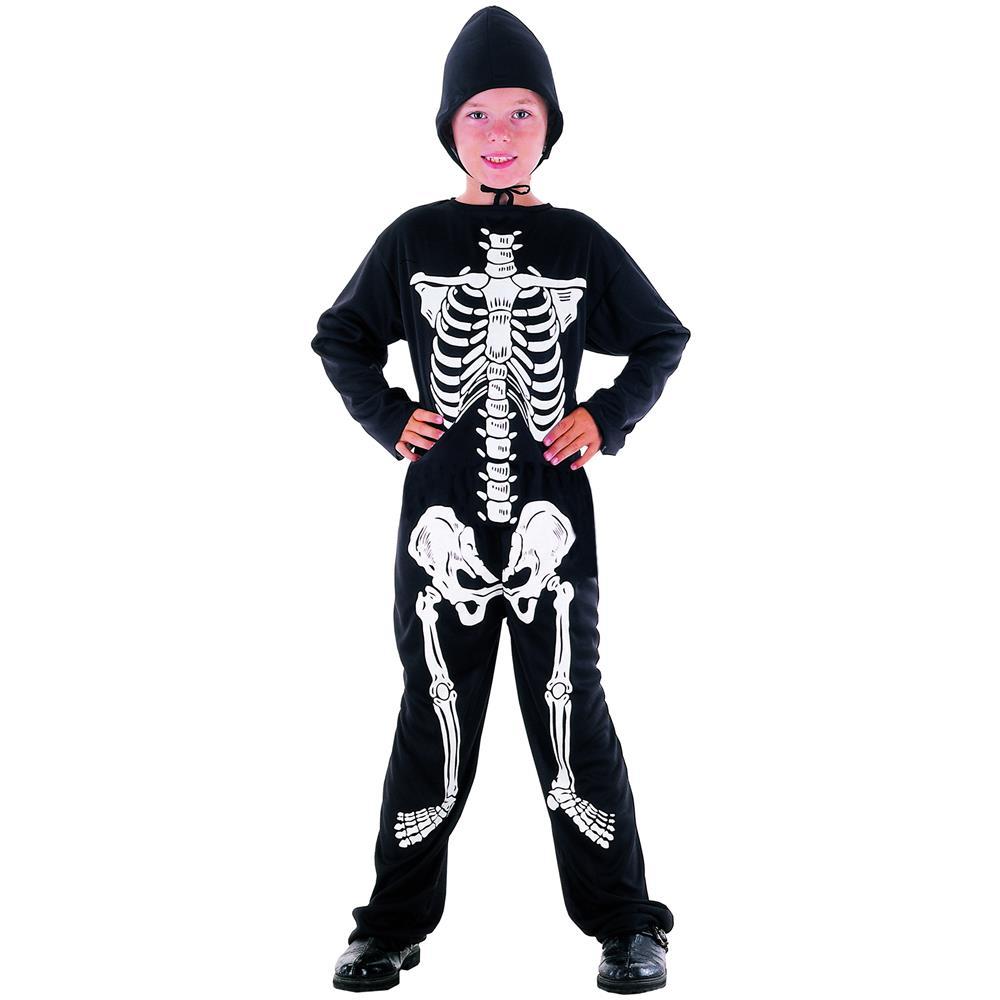 JADEO Costume Da Scheletro Per Halloween Da Bambino 8 A 9 Anni (l). Zoom d68cf32421b