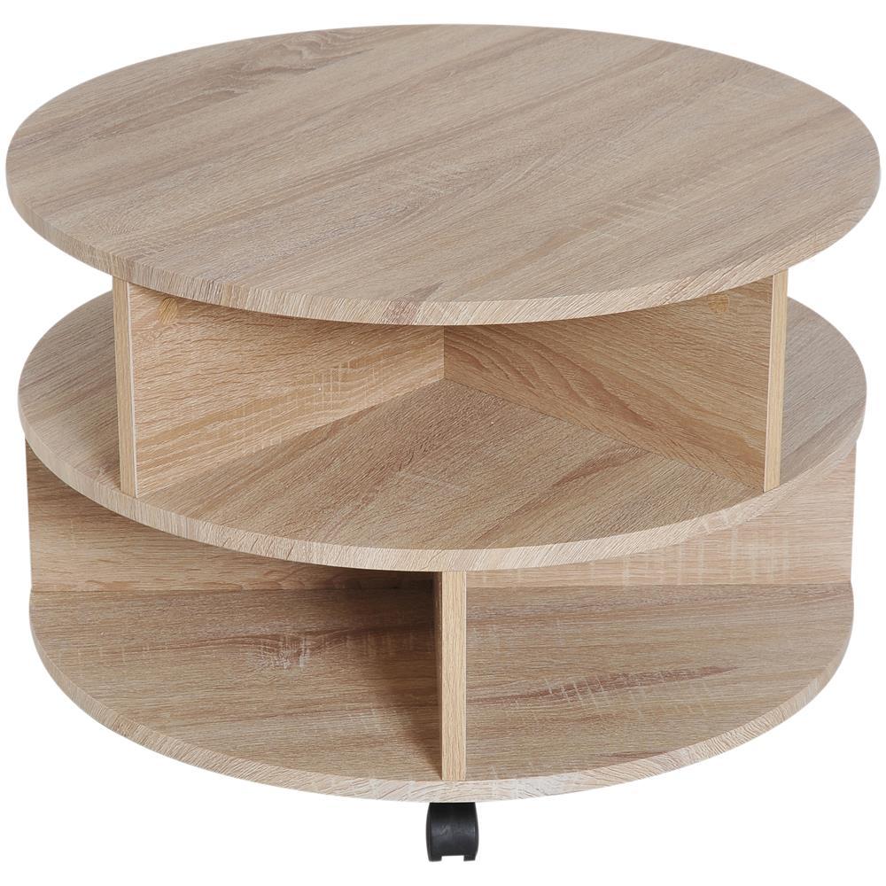 Tavolino X Salotto.Homcom Tavolino Caffe Di Ampio Spazio Con Ruote Per Salotto
