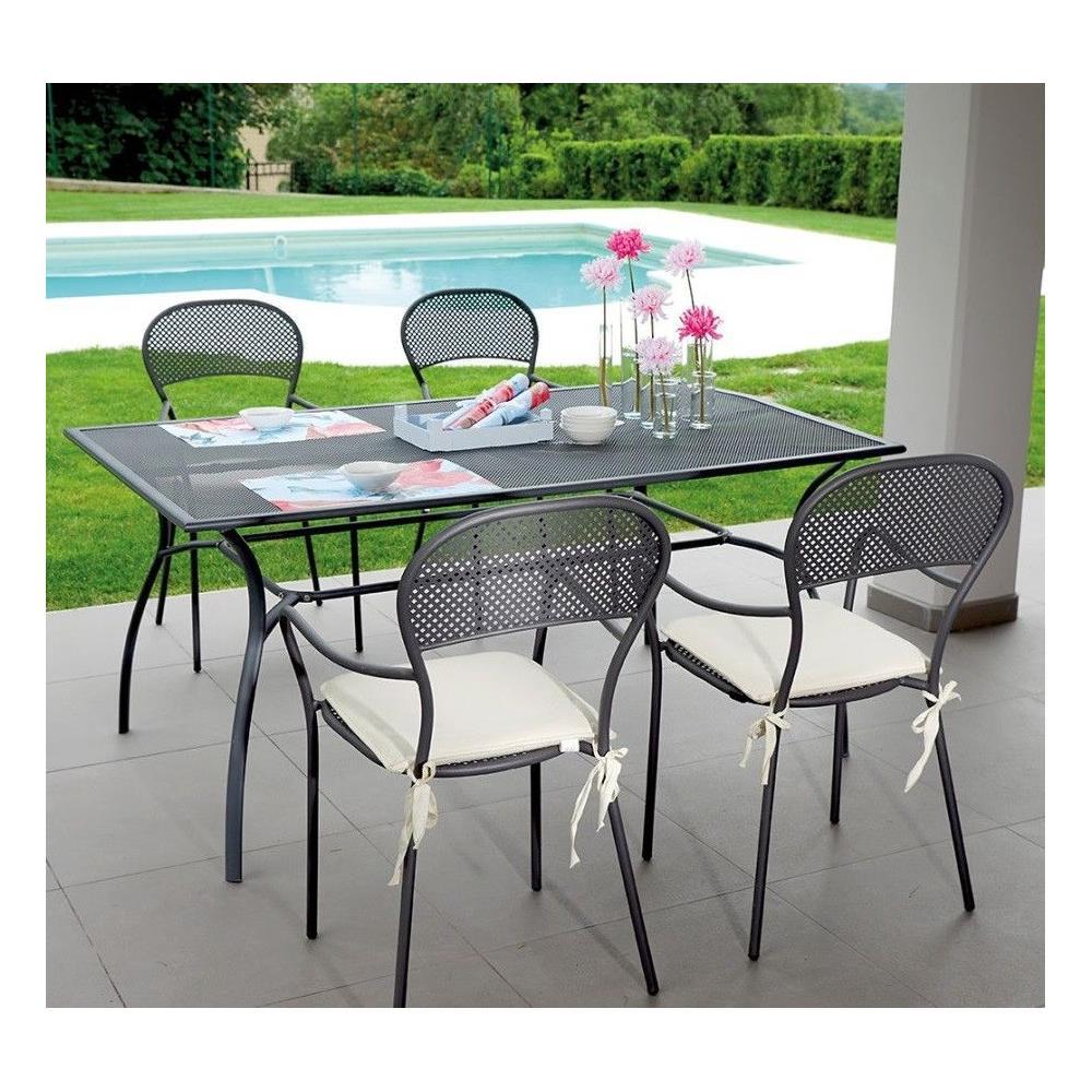 Tavoli E Sedie In Ferro Per Giardino.Gruppo Maruccia Tavolo Da Giardino Con Quattro Sedie In Ferro
