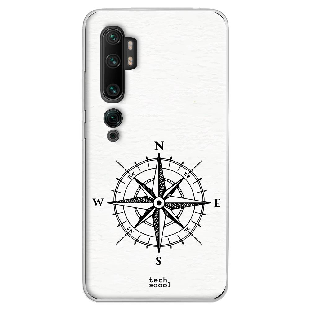 Techcool Cover, Custodia Per Huawei P40 Lite L Silicone Sfondo Bianco Brujula