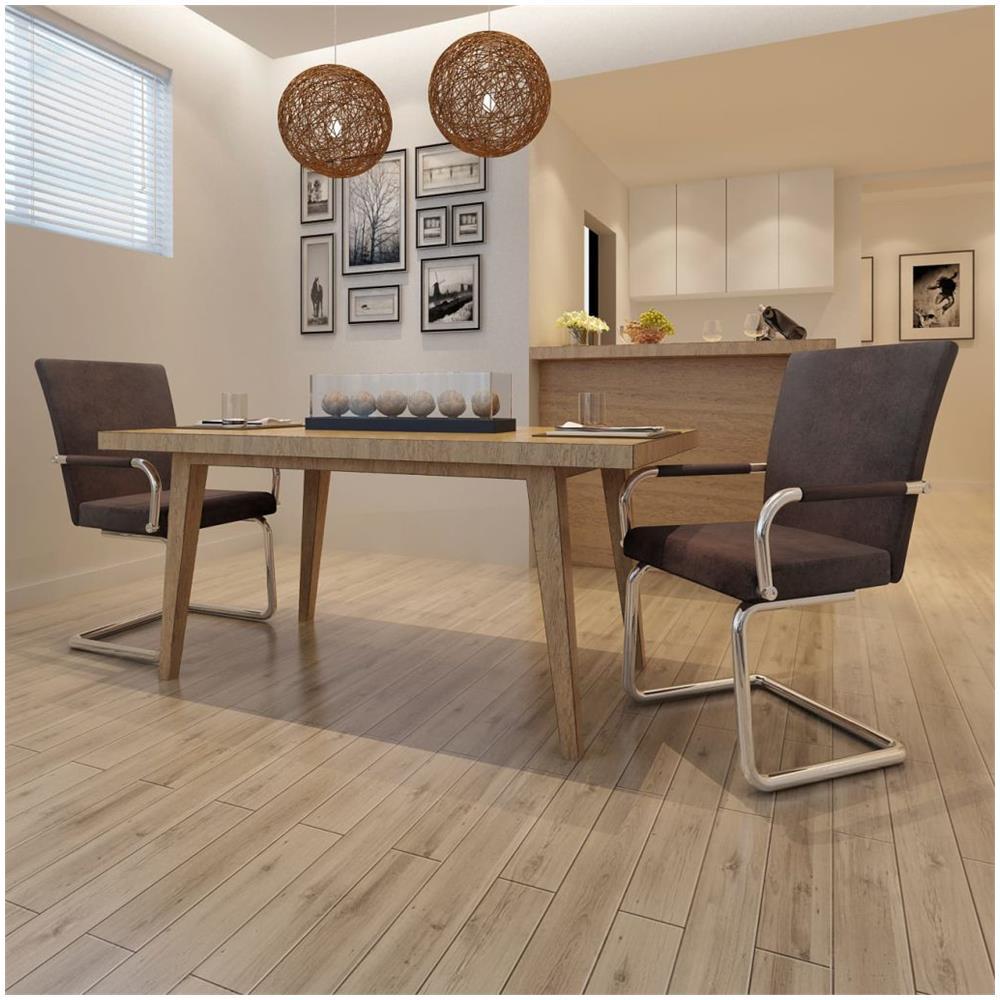 Sedie Per Sala Da Pranzo Moderne.Vidaxl 2 Pz Sedie Per Sala Da Pranzo Moderne Marroni