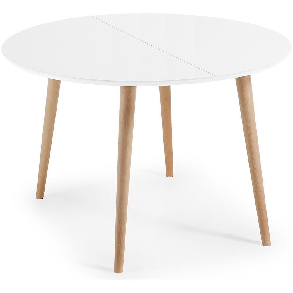 Tavolo bianco rotondo allungabile tavolo allungabile per cucina ...