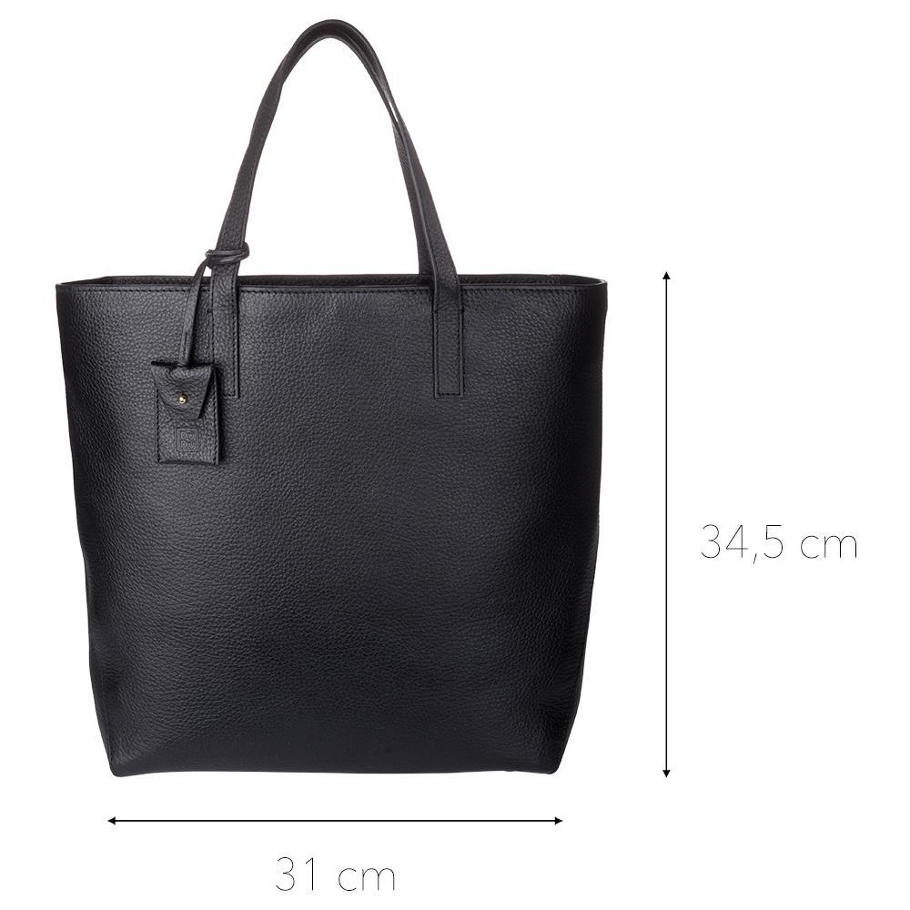 e9175f222a DuDu Shopping Bag Donna Shopper Grande In Vera Pelle A 2 Manici Borsa A  Tracolla Regolabile E Staccabile Nero