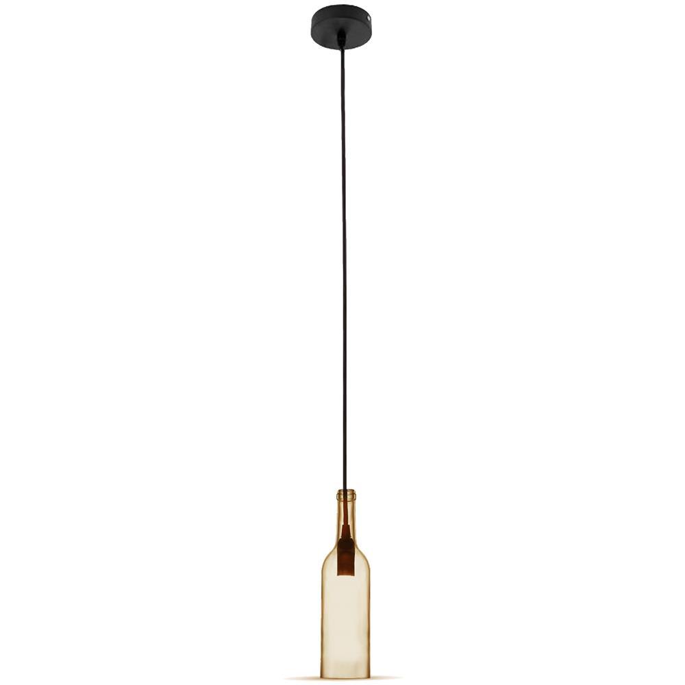 Lampadari Con Bottiglie Di Vetro v-tac lampadario pendente a sospensione bottiglia vetro ambra e14 vt-7558