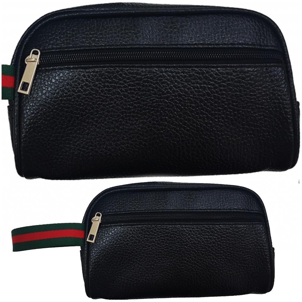 7834620bdcca1d Trade Shop - Pochette Uomo Gancio Borsello No Tracolla Beauty Case Borsa  Eco Pelle Vintage - ePRICE