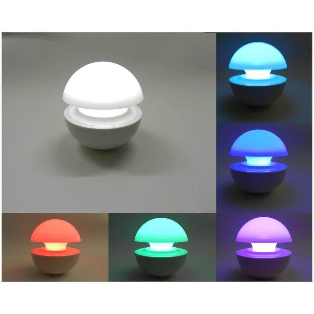 Luci Led Per Cromoterapia trade shop traesio® lumino lampada led colori cromoterapia da tavolo  comodino multicolore senza fili