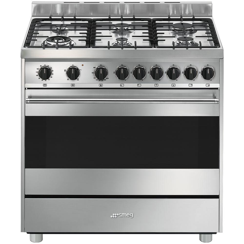 SMEG - Cucina a Gas B9GVXI9 6 Fuochi con Forno a Gas Ventilato - ePRICE