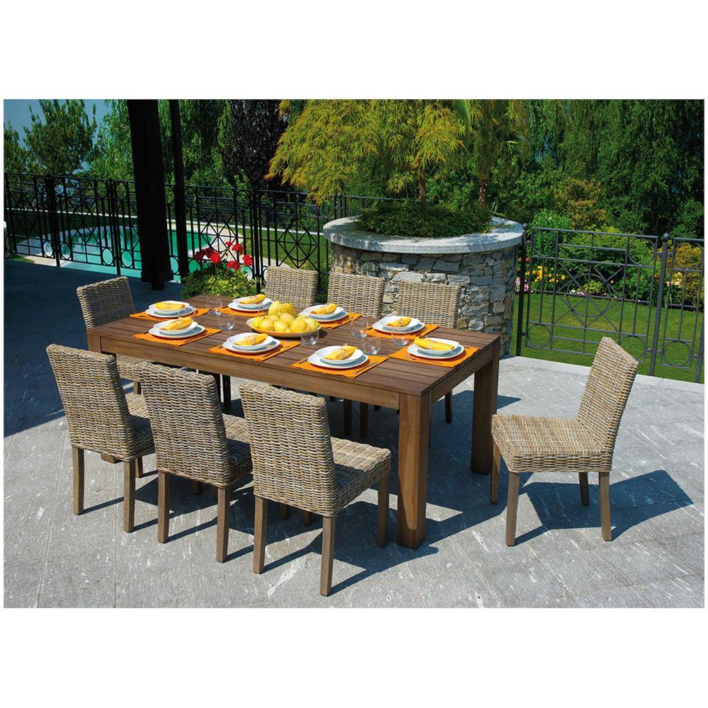 Tavoli Da Giardino In Legno Usati.Gruppo Maruccia Tavolo Da Giardino In Legno Teak 2 Metri Eprice