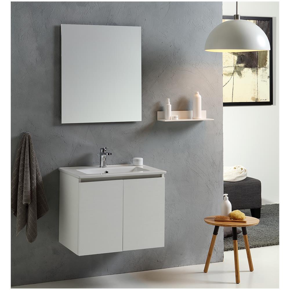 kiamami valentina mobile bagno vinci 60 cm con due ante modello bianco foresta eprice. Black Bedroom Furniture Sets. Home Design Ideas