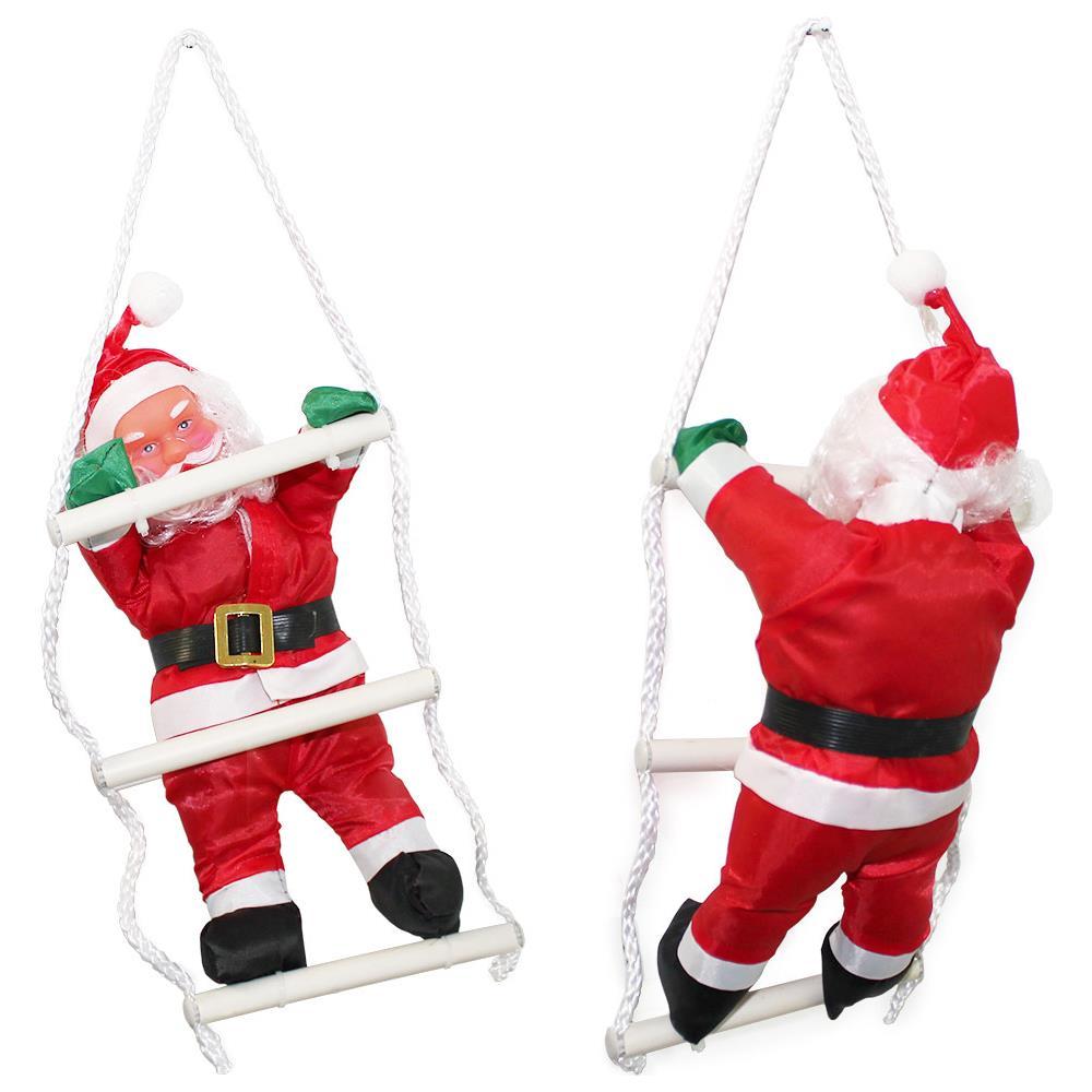 Copri Wc Babbo Natale.Lux Pro Babbo Natale Sulla Scala 32cm Decorazione Con Babbo Natale