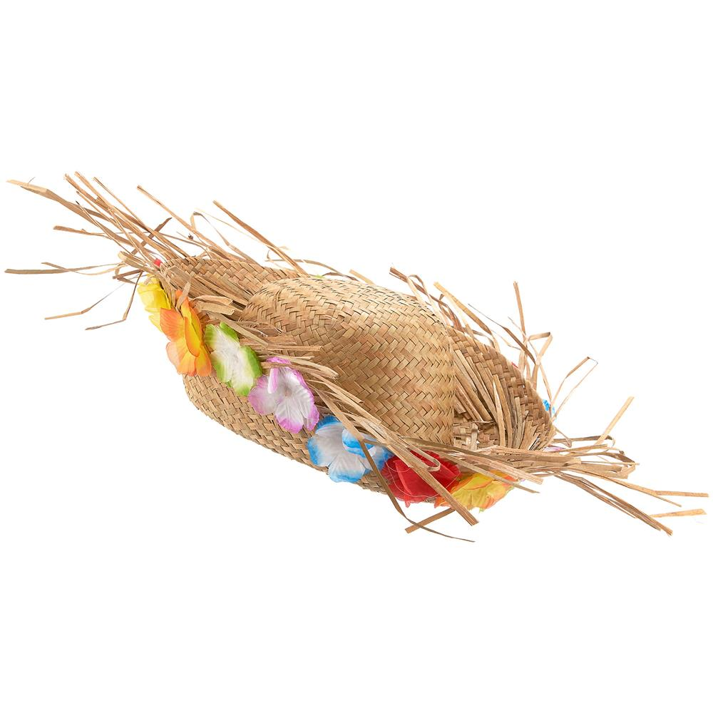 JADEO - Cappello Di Paglia Hawaii Con Fiori Colorati Taglia Unica ... 577e797c7b2c