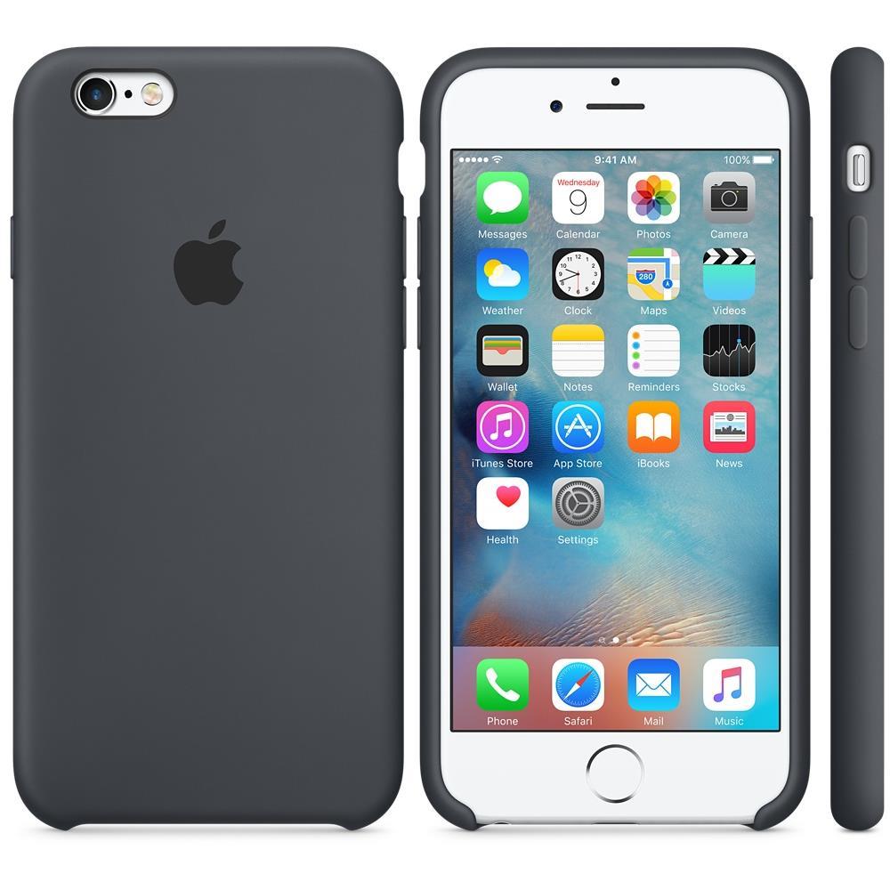 custodia in silicone per iphone 6/6s - antracite