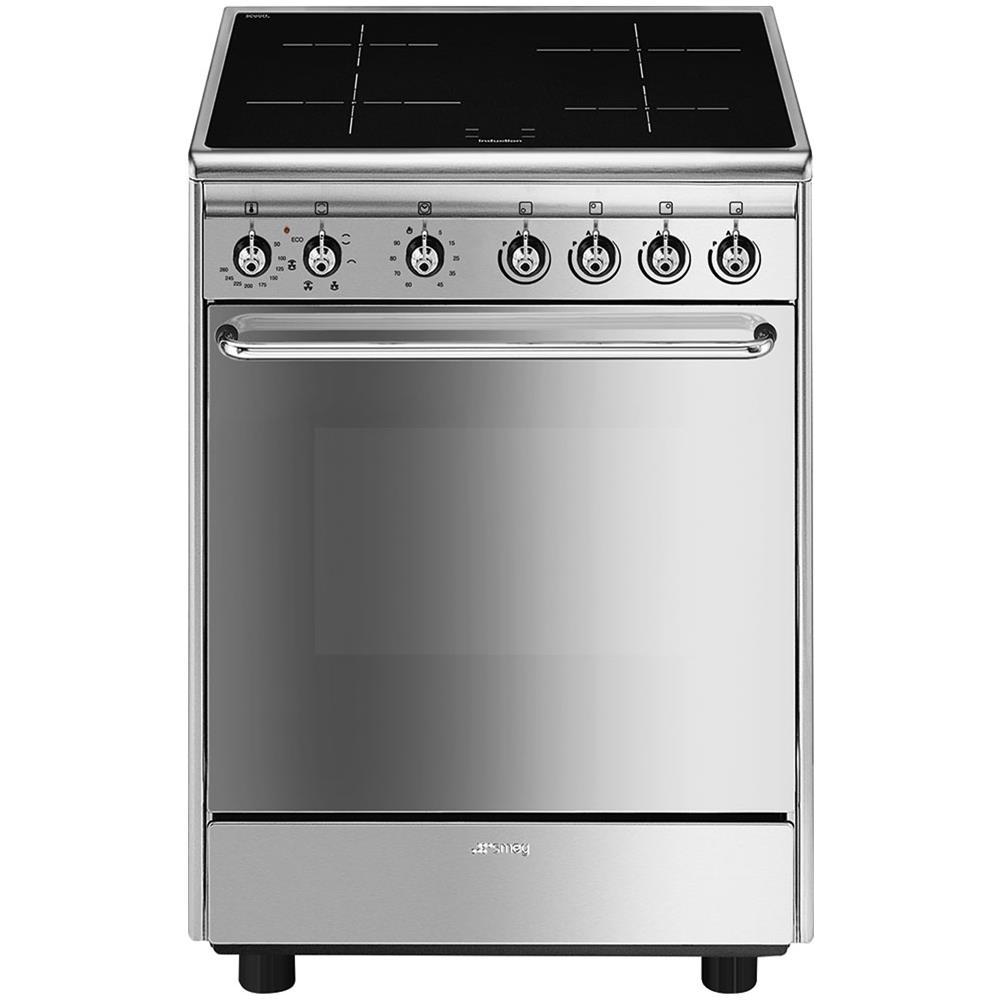Misure Standard Piano Cottura Cucina smeg cucina elettrica cx60isv9 4 zone cottura a induzione forno elettrico  multifunzione ventilato classe a dimensioni 60 x 60 cm colore inox