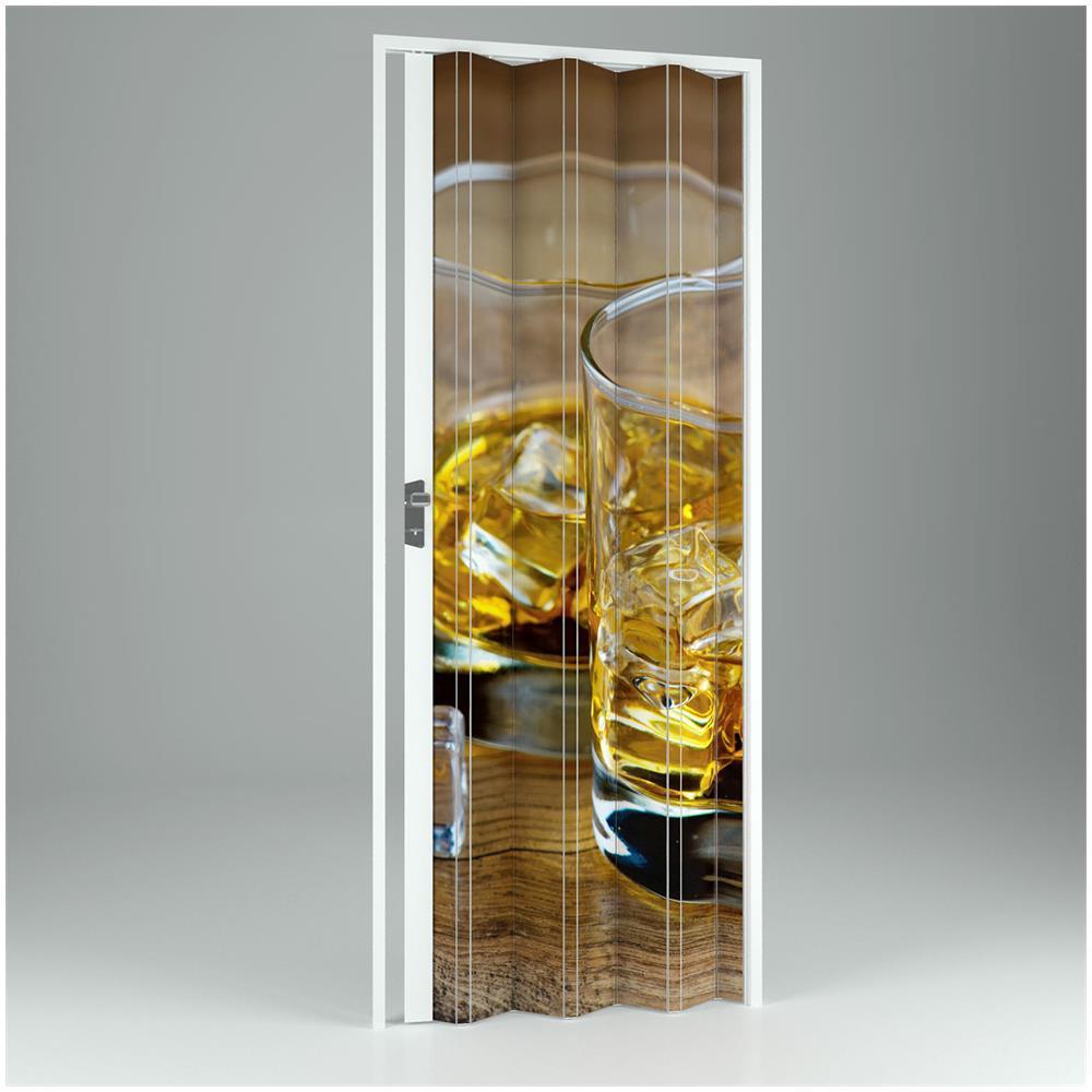 FORTE - Porta A Soffietto Da Interno In Pvc Drink 89,5x214 Cm Mod ...