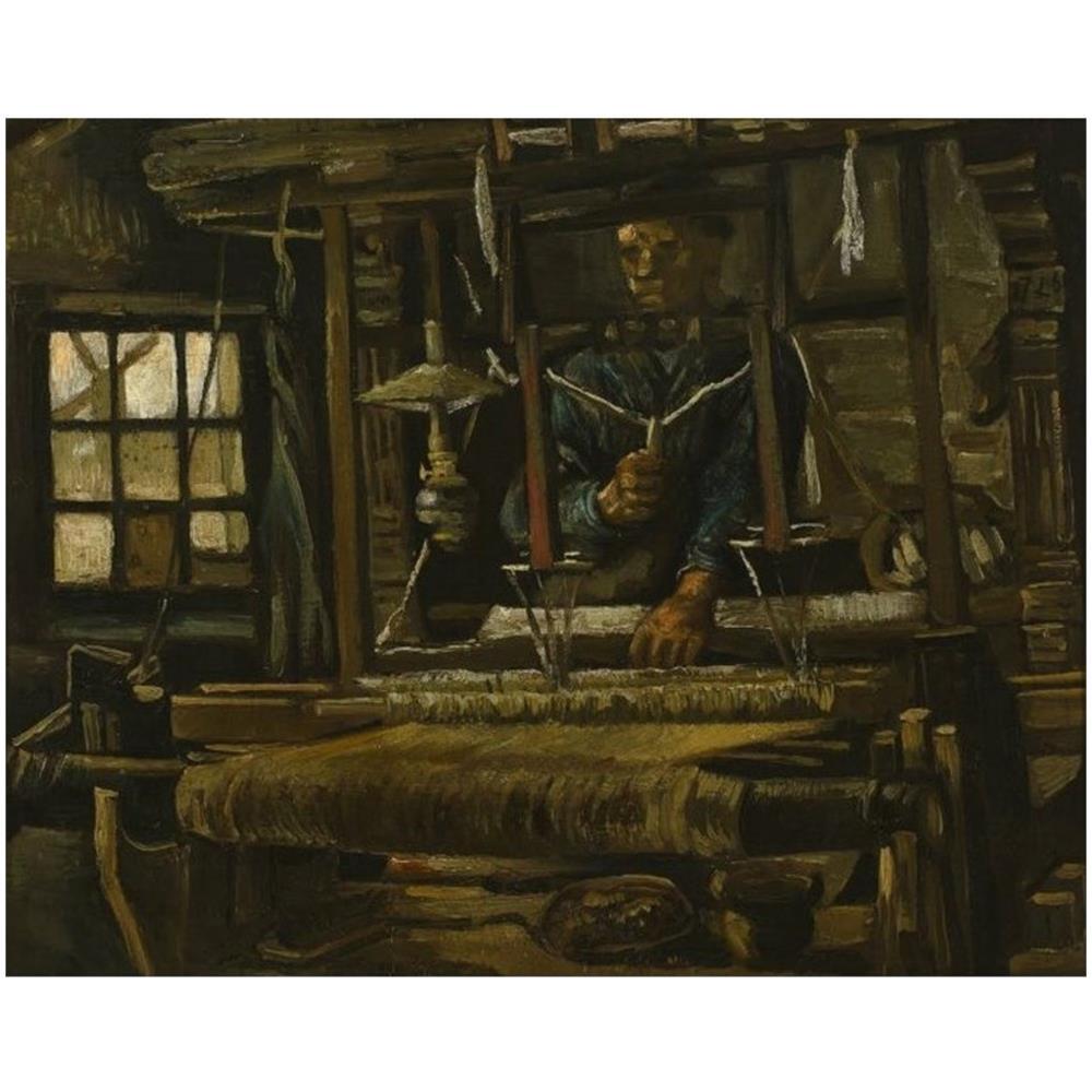 Niik - Stampa La Casa Del Tessitore Di Vincent Van Gogh 80 X 63 Cm ...