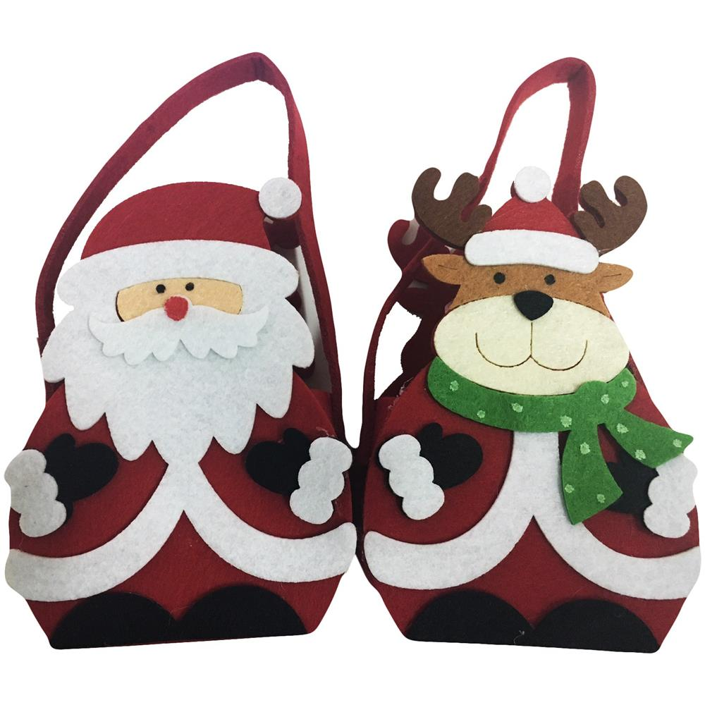 Decorazioni Natalizie Caramelle.Takestop Set 2 Pezzi Sacchetto Tessuto Babbo Natale Renna Natalizi Portacaramelle Porta Caramella Regalo Decorazione Eprice