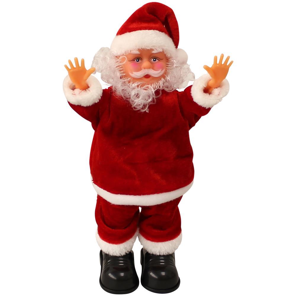 Copri Wc Babbo Natale.Lux Pro Babbo Natale Che Canta E Balla E Fa La Verticale 31cm