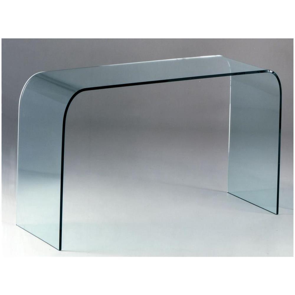 Mod consolle in vetro curvato Alba