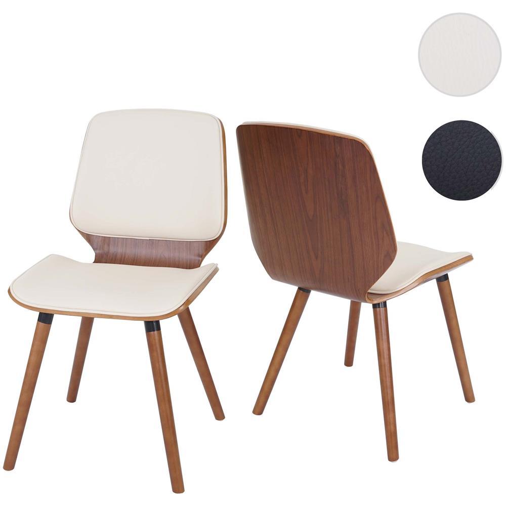 Mendler - Set 2x Sedie Hwc-b16 Design Elegante Legno Curvo Ecopelle ...