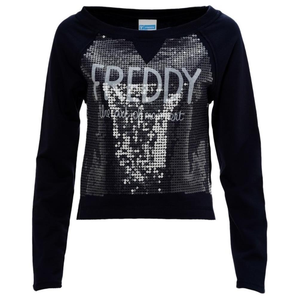 buy popular f25d4 cef85 Freddy Felpa Donna Paillettes M Blu