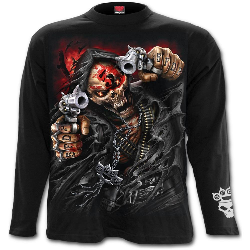 - 5Fdp - Assassin - Licensed Band Black (Maglia Manica Lunga Unisex Tg. S)