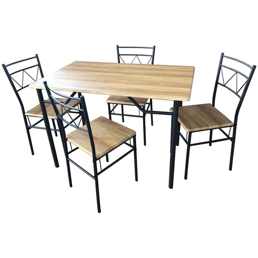 Tavoli In Ferro E Legno.Sf Savino Filippo Set Completo Da Pranzo Tavolo Con 4 Sedie In