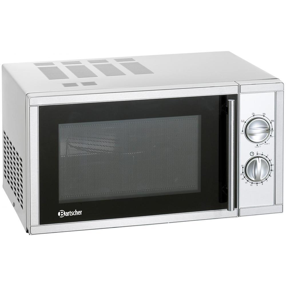 Bartscher - 610826 Forno microonde con grill 900+1000 Watt 23 Litri ...