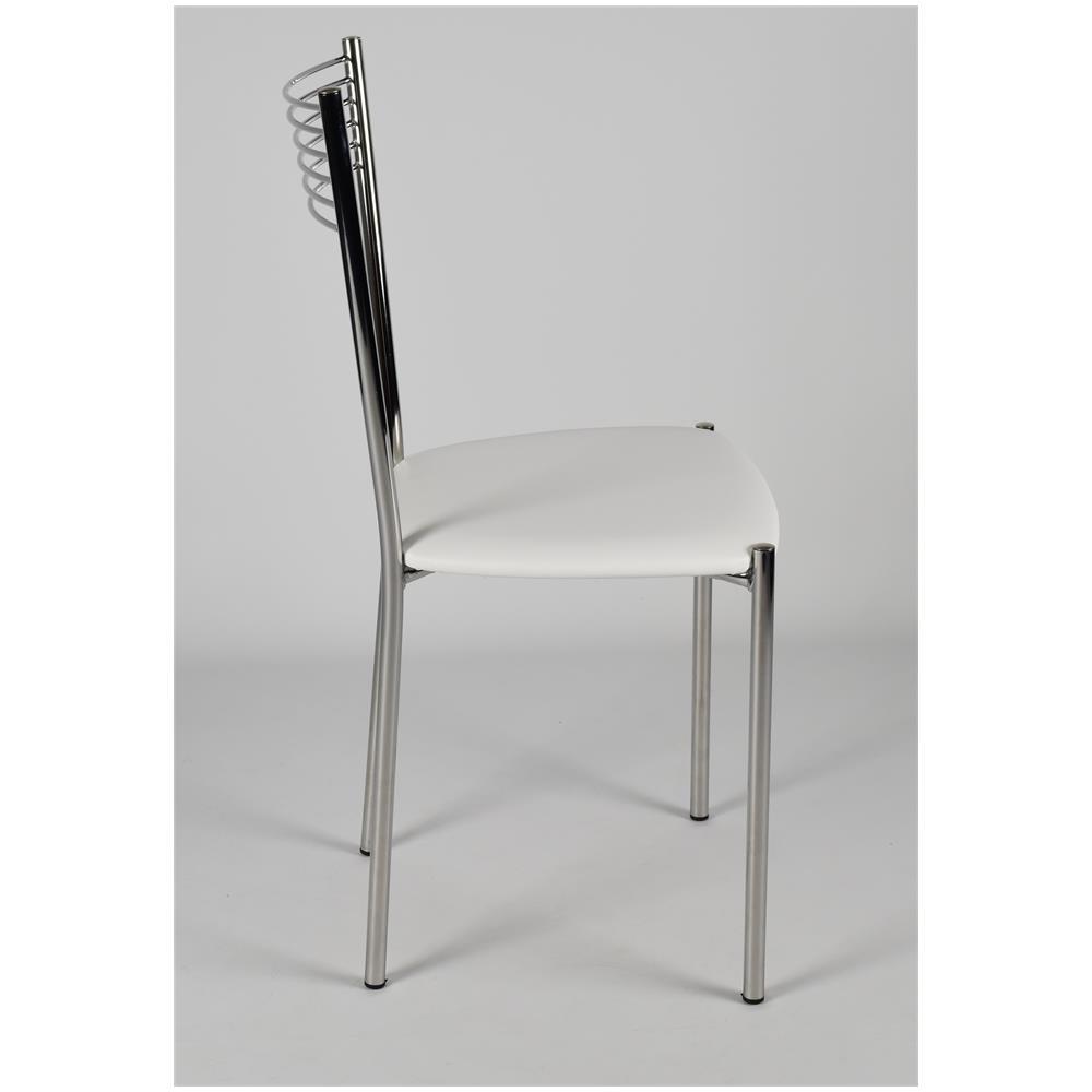 Sedie Bianche E Acciaio.Tommychairs Set 4 Sedie Per Cucina E Sala Da Pranzo