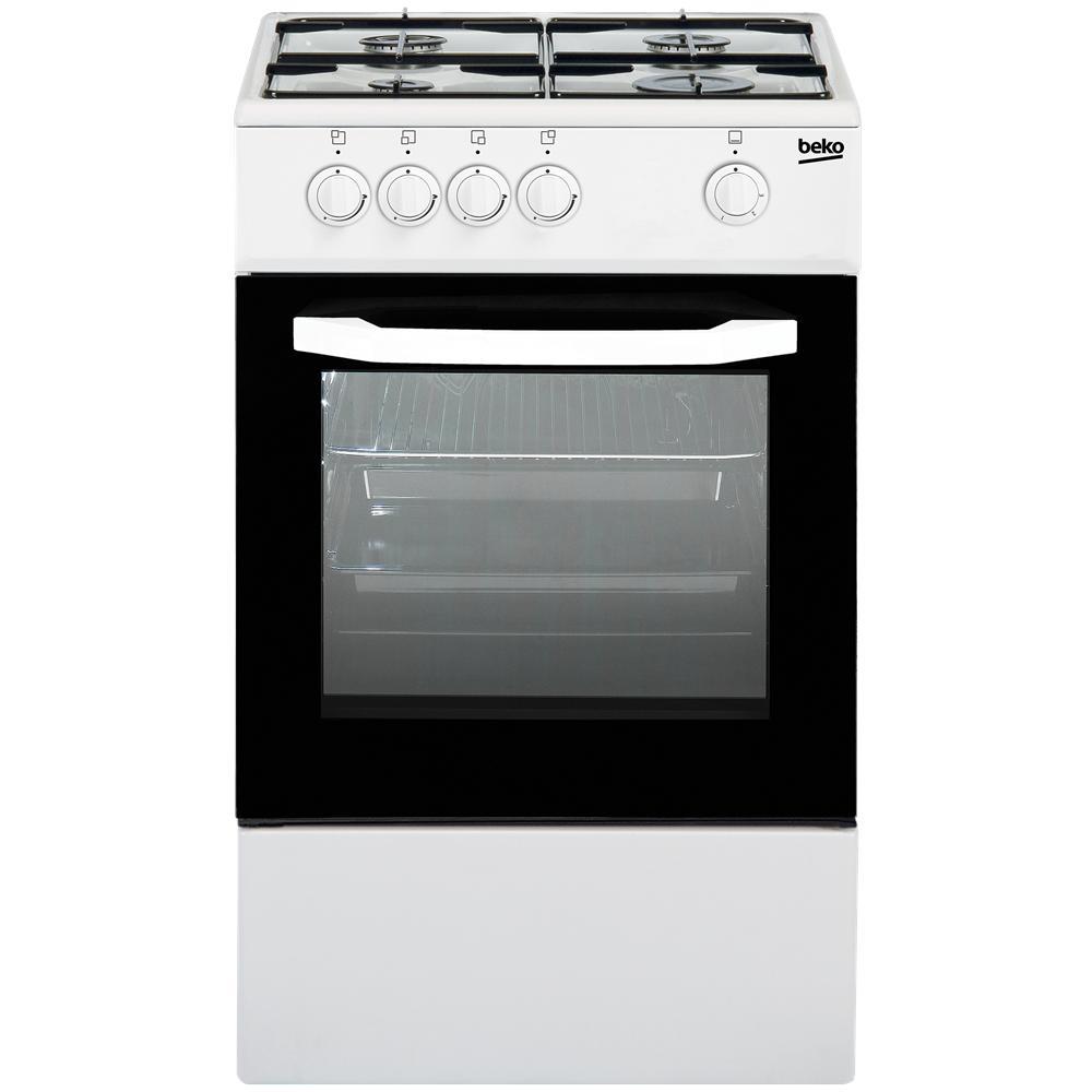 BEKO - Cucina a Gas CSG42000DW 4 Fuochi a Gas Forno a Gas Dimensioni ...