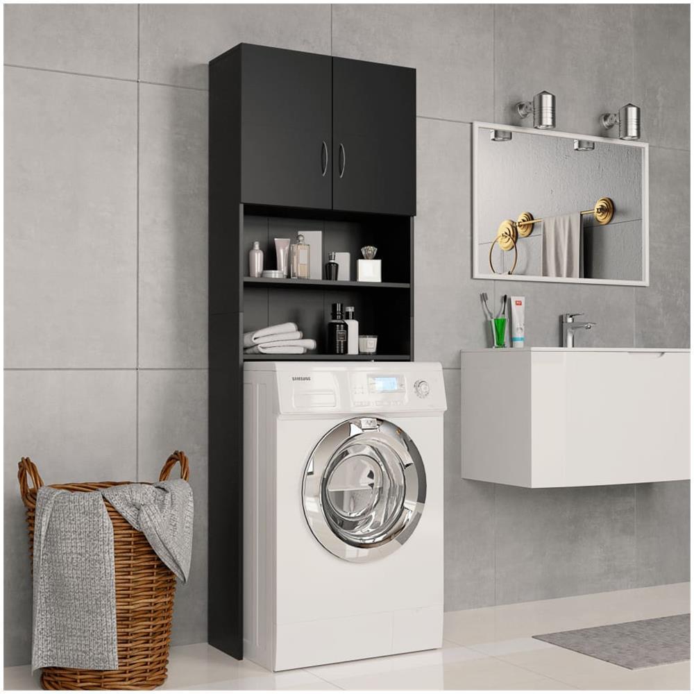 Mobile Proteggi Lavatrice Da Esterno vidaxl mobile per lavatrice nero 64x25,5x190 cm in truciolato