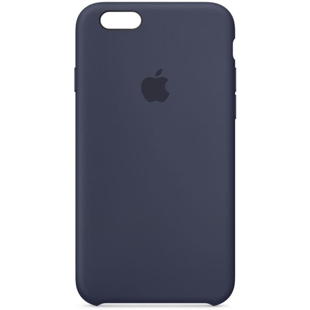 Custodia Silicone Morbida In Pelle Cover per Apple iPhone 6S Plus Blu