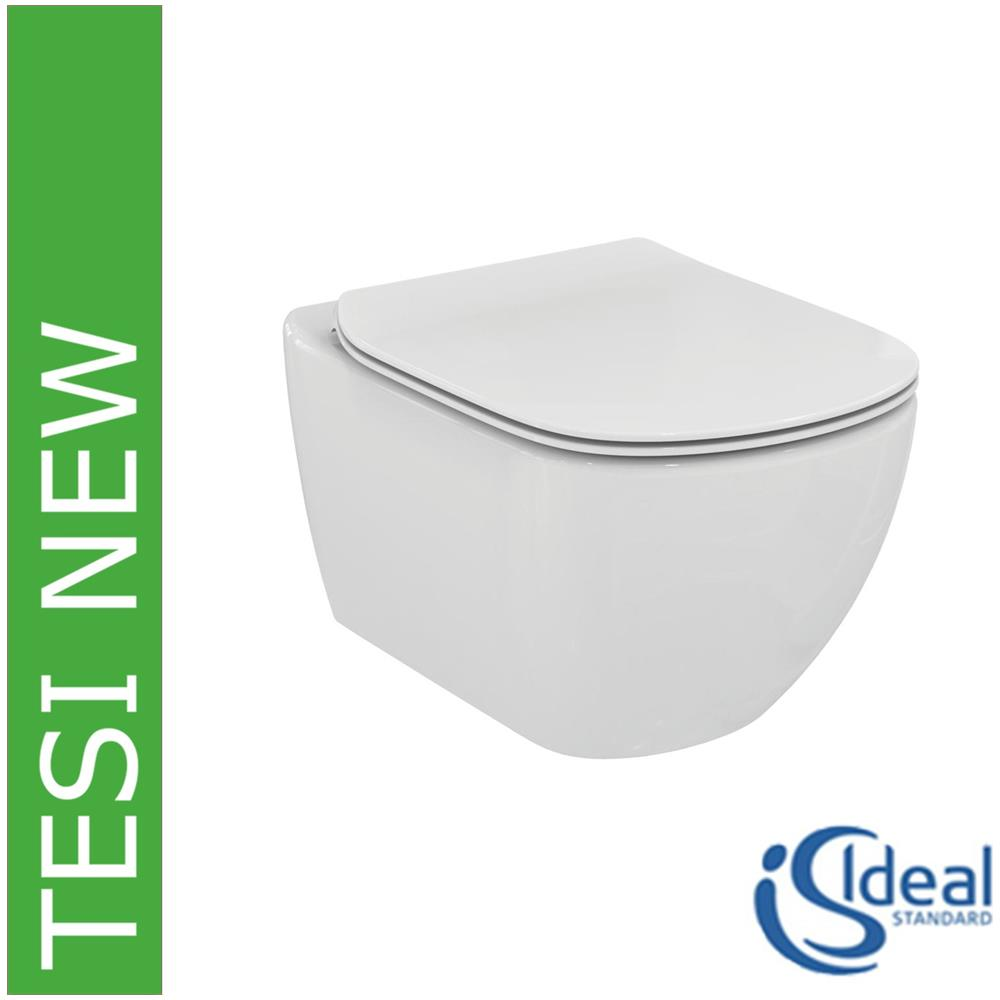 Sedile Wc Tesi Ideal Standard.Ideal Standard Vaso Wc Sospeso Con Sedile Slim Rallentato Tesi New T3541 Bianco Eprice