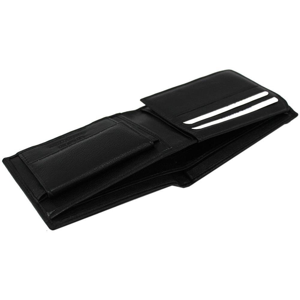 f2117abaa4 ARMATA DI MARE Portafoglio Uomo Pelle Modello Piccolo Con Portamonete 498-9  Nero