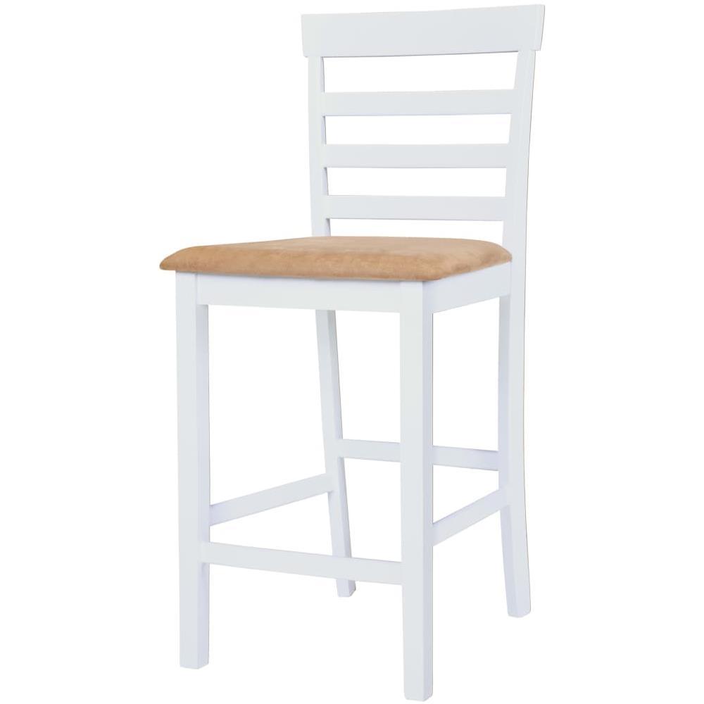 Tavolo Bianco E Sedie Marroni.Vidaxl Set Tavolo E Sedie Da Bar 3 Pz Legno Massello Marrone E
