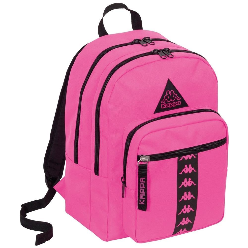 ee3e2c8599 TrAdE shop Traesio® - Zaino Scuola Kappa Organizzato Rosa Cartella Doppio  Scomparto 34 Lt Sport - ePRICE