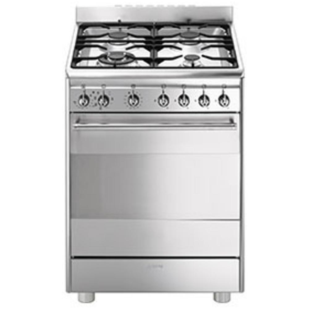 Smeg - Cucina Elettrica CX68MF8-2 4 Fuochi a Gas Forno Elettrico ...