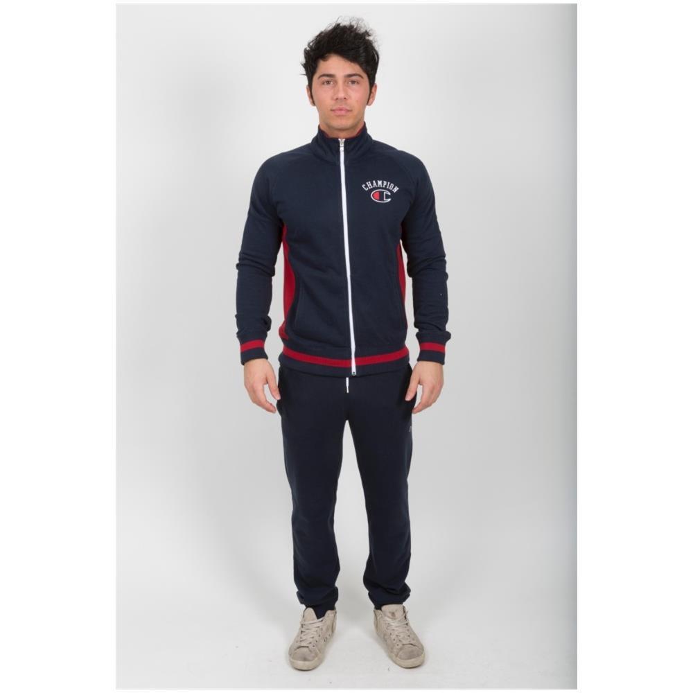 wholesale dealer fc553 99a50 Champion Tuta Uomo Authentic Fine Terry Full Zip Blu Blu L