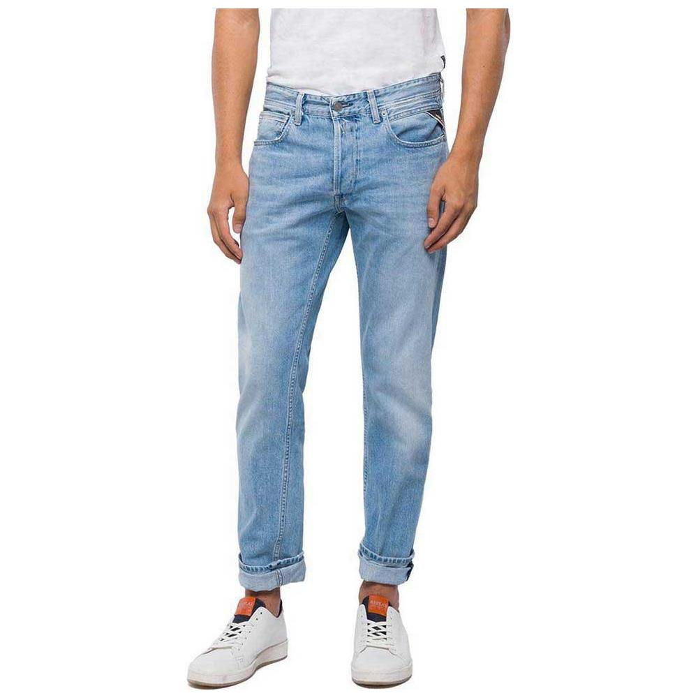 new style a806e fdcf6 REPLAY - Pantaloni Replay Grover Straight Cut L32 ...