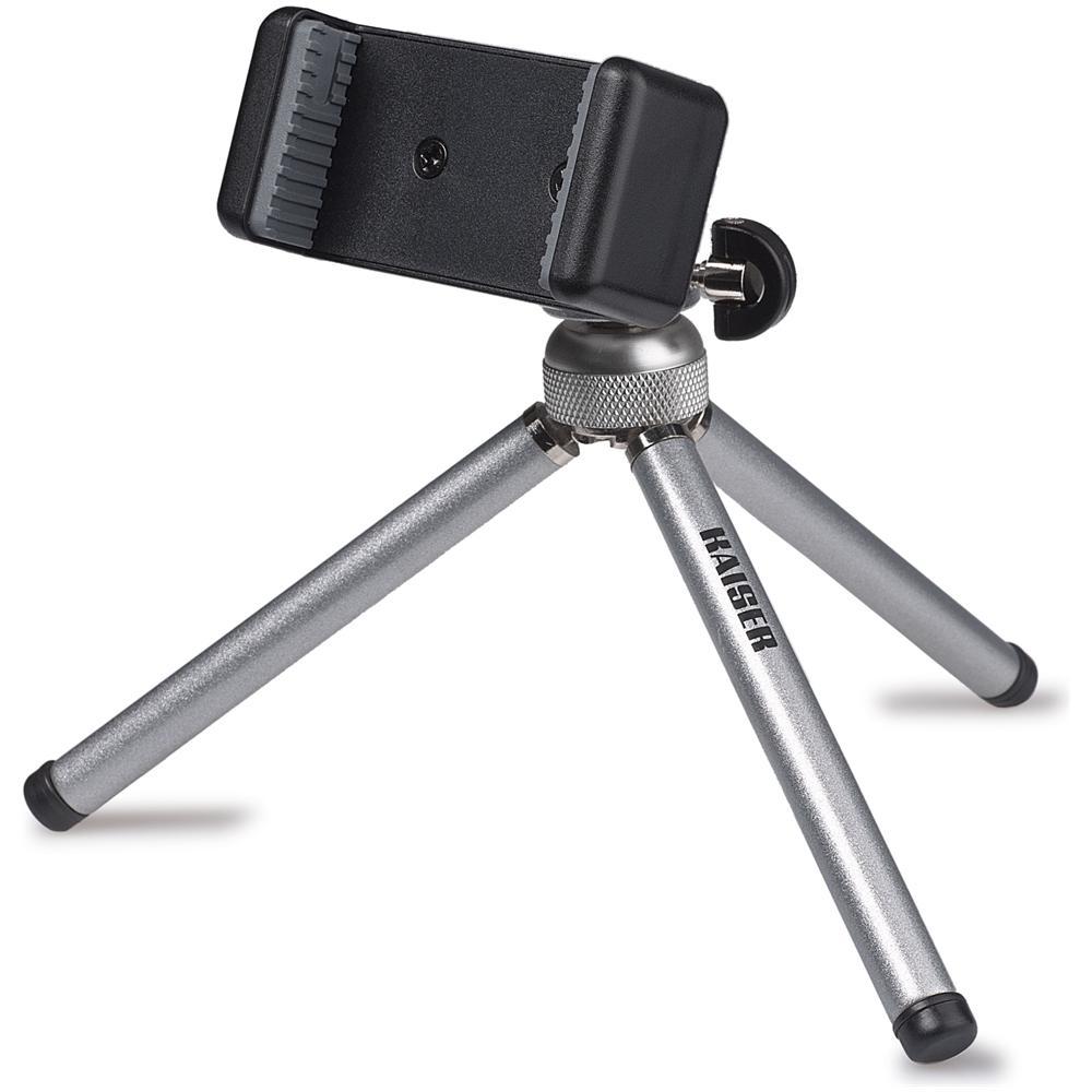 Treppiede con Testa per Smartphone / Camera Altezza Max 8.5 cm Nero 6016