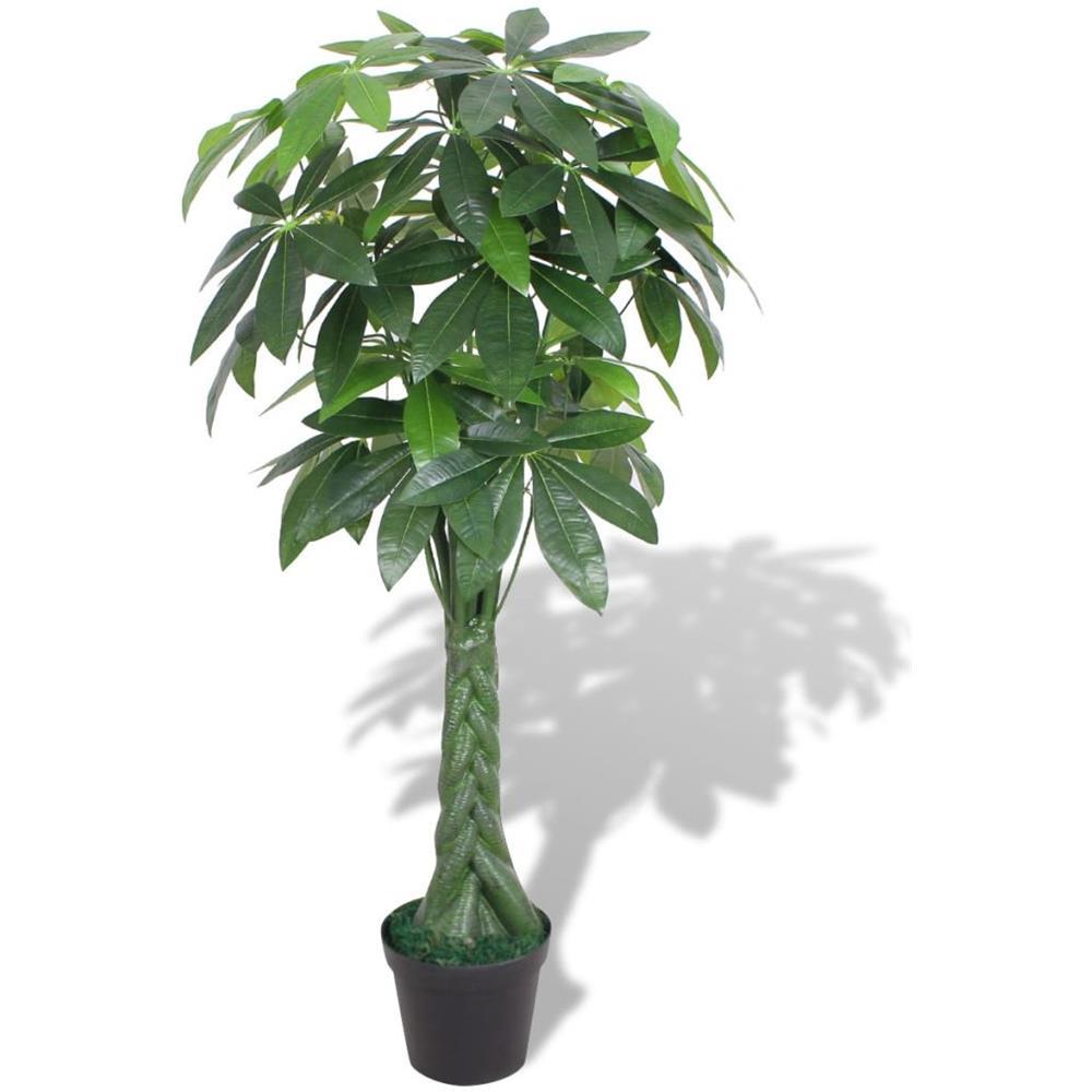 Albero Della Fortuna Pianta vidaxl pachira acquatica pianta artificiale con vaso 145 cm verde