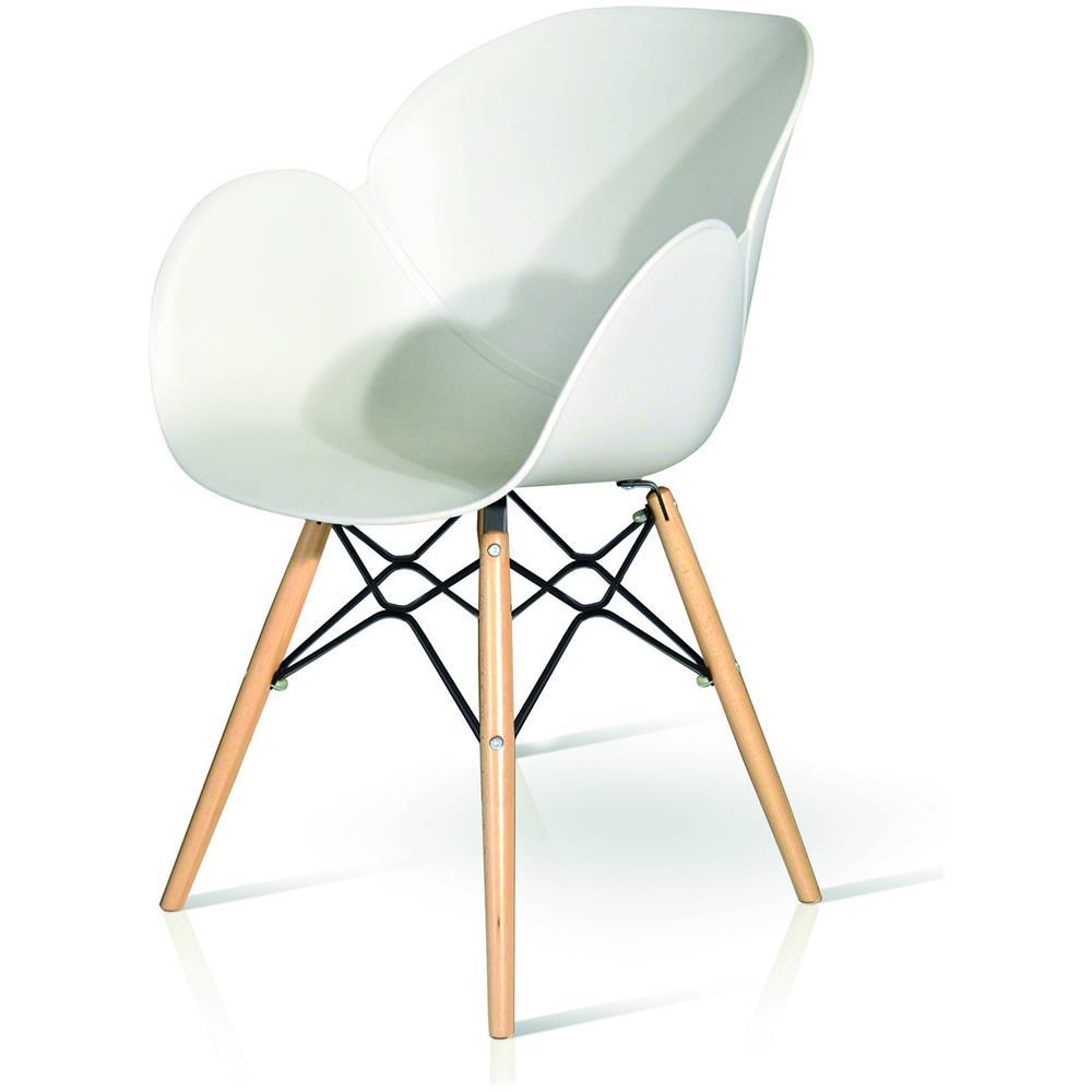 Estea Mobili - Sedia Design Legno E Polipropilene Colore Bianco - ePRICE