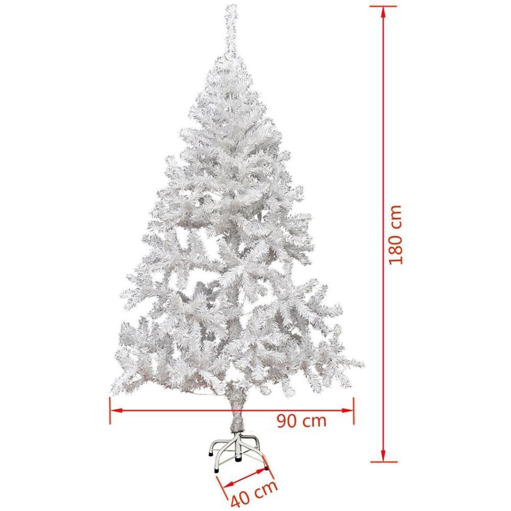 Albero Di Natale Bianco 90 Cm.Vidaxl Albero Di Natale Bianco Artificiale 180 Cm 620 Rami Eprice