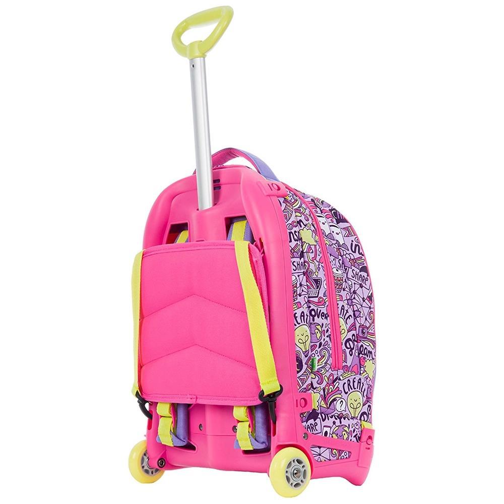 1332ebcee4 TrAdE shop Traesio® Zaino Scuola Ragazzi Trolley 3in1 Jack Sj Con Carrello  Rimovibile Rosa