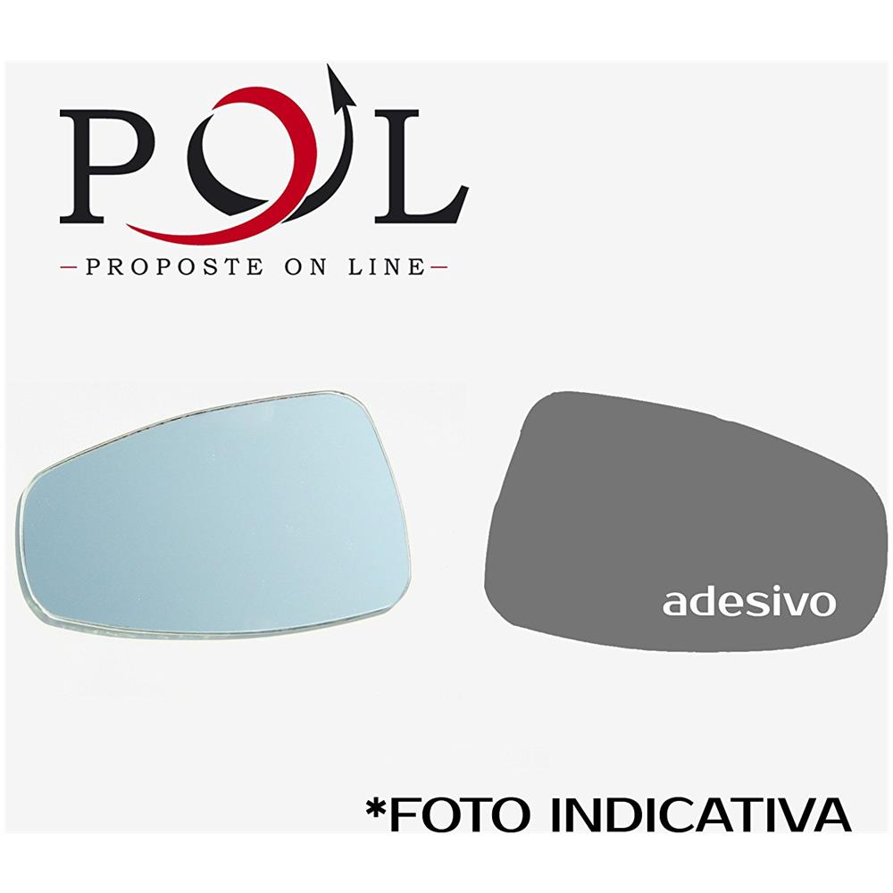 Vetro Specchio Retrovisore Destro Argento Piano 22800