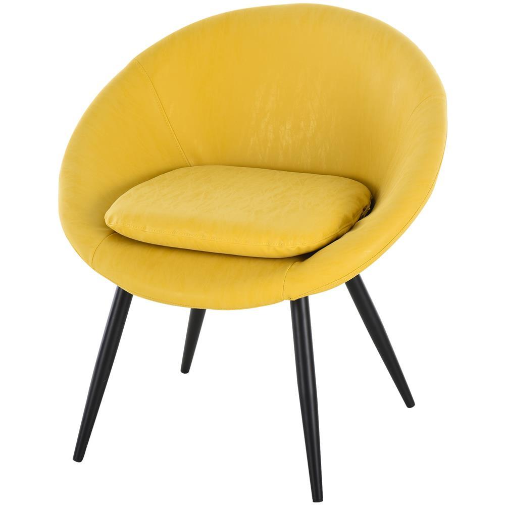 49 X 60 X 89cm Homcom Set 2 Sedie Per Sala Da Pranzo In Metallo E Similpelle Nera Imbottite E Dal Design Moderno Sedie Sala Da Pranzo