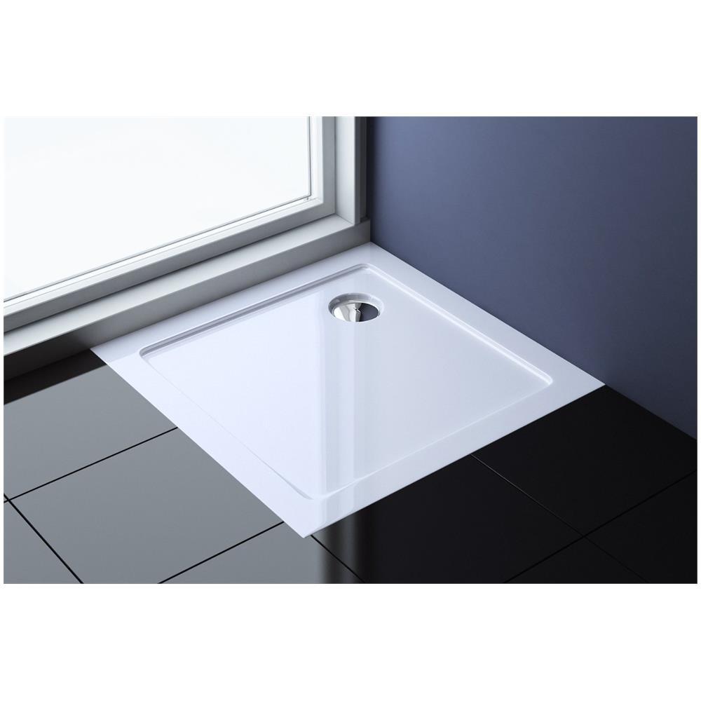Prezzo Piatto Doccia 70x70.Cristals Water Piatto Doccia 70x70 Quadrato In Resina Bianco Antiscivolo Spessore 4cm