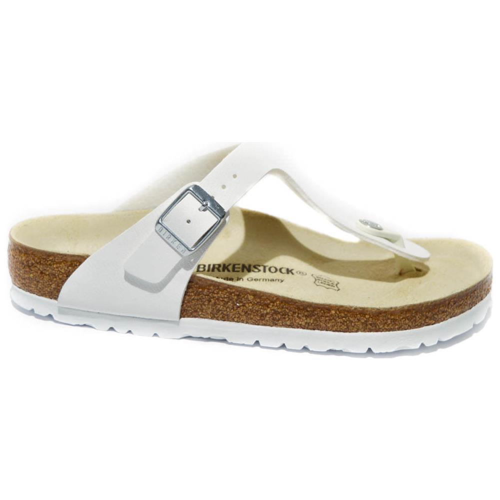 official photos a1a0a a70d1 Birkenstock Infradito Donna Pelle White Made In Germany Art. gizeh 0043731  Taglia: 37