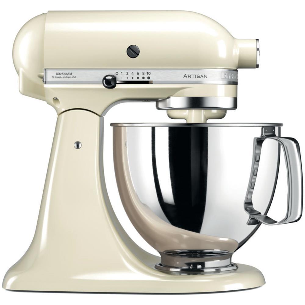 KITCHENAID 5KSM125PSEAC Robot da Cucina Artisan 4 Accessori Inclusi  Capacità 4.8 L Potenza 300 W Colore Crema