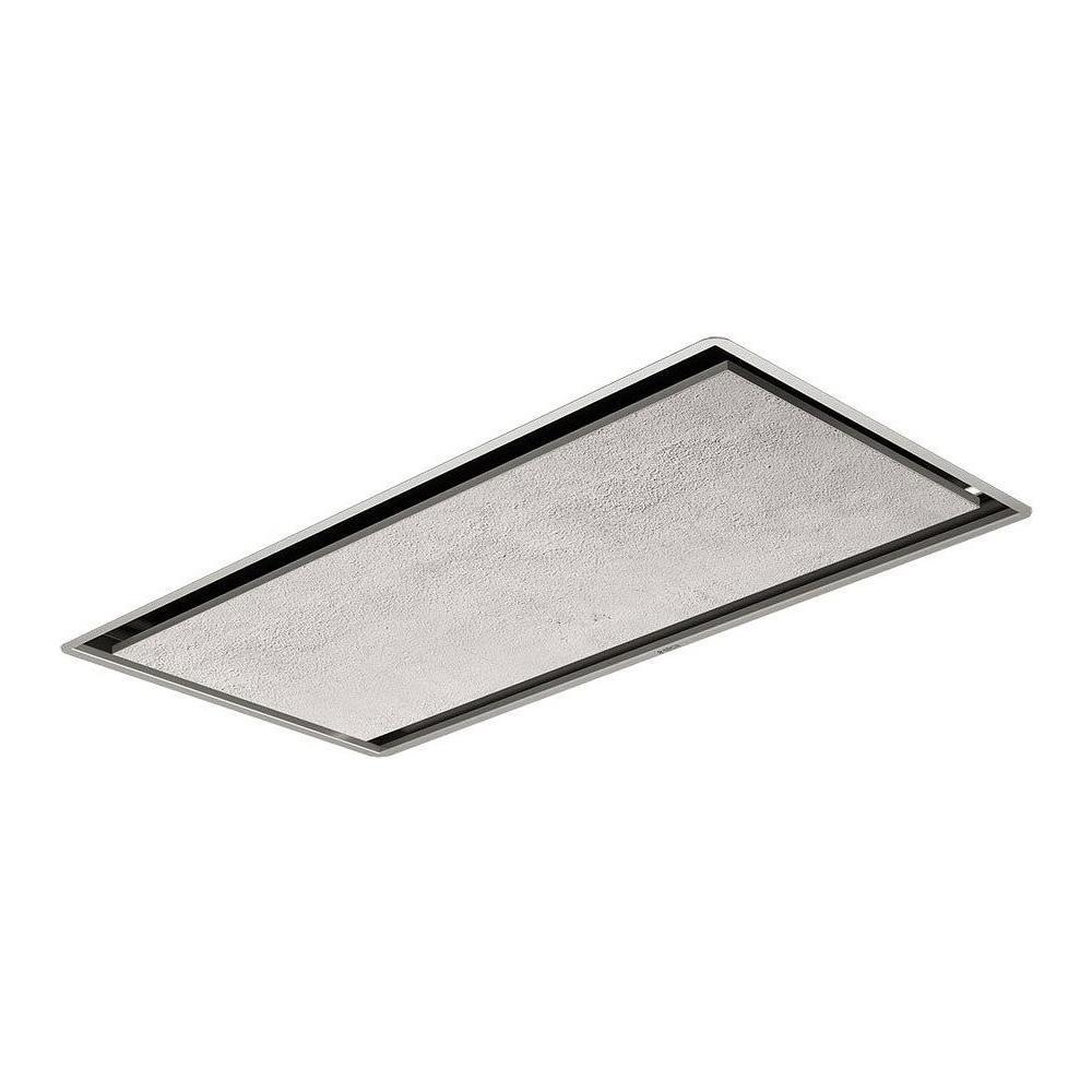 Piano Cottura Aspirante Elica Prezzo elica cappa a soffitto illusion h16 paint / a / 100 aspirante da 100 cm  colore inox