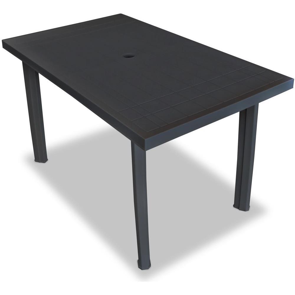 Tavolo Da Esterno Plastica.Vidaxl Tavolo Da Giardino 126x76x72 Cm In Plastica Antracite